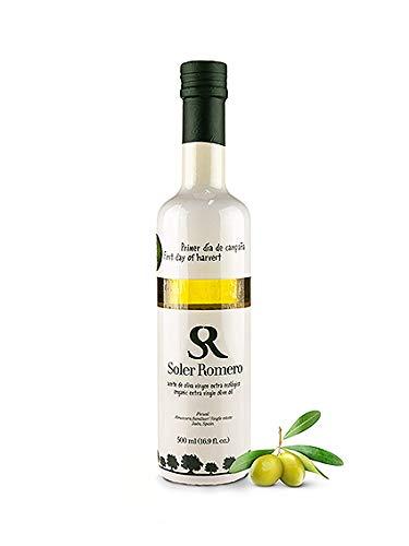 Bio Olivenöl kaltgepresst - Soler Romero 'Erste Ernte' - natives Olivenöl extra aus Spanien - intensiv-fruchtig -100% Picual Oliven, 500 ml