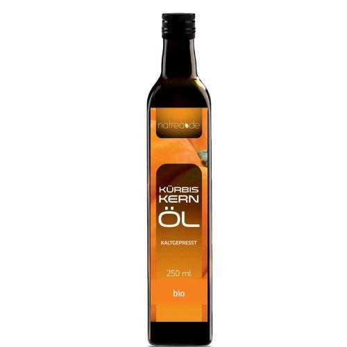 Natrea Bio Kürbiskernöl aus der Steiermark | kaltgepresst ✅ 100% reines BIO-Öl ✅ in 250 ml Lichtschutzflasche (1 x 0,25 l) ✅