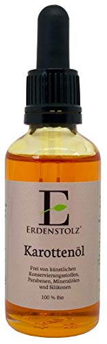 Bio Karottenöl mit Pipette 50ml - 100% reines kaltgespresstes bio Öl