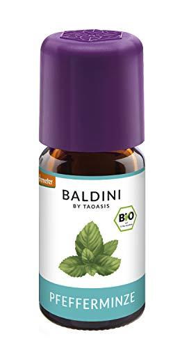 Baldini - Pfefferminzöl BIO, 100% naturreines ätherisches BIO Pfefferminz Öl, Bio Aroma, 5 ml - auch China Öl genannt