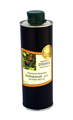 Kürbishof DEIMEL - Original Steirisches Kürbiskernöl g.g.A. aus Österreich (500 ml) - Direkt vom Erzeuger - Jährlich prämiert