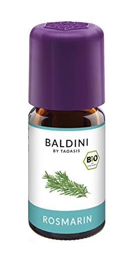 Baldini - Rosmarinöl BIO, 100% naturreines ätherisches BIO Rosmarin Öl, Bio Aroma, 5 ml
