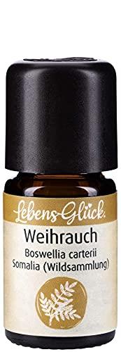 LebensGlück. Weihrauchöl, 100% naturreines ätherisches Öl WEIHRAUCH aus Wildsammlung, 5ml, Aroma Therapie I Kosmetik