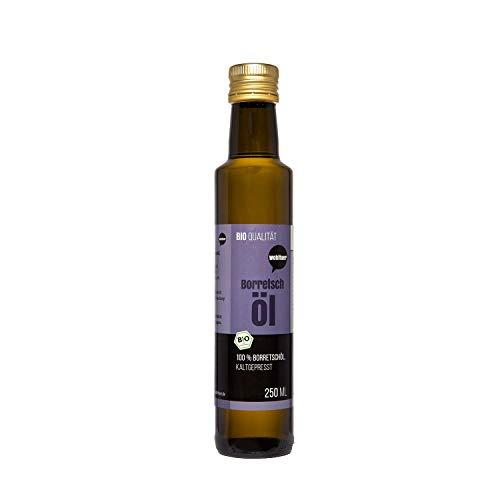Wohltuer Bio Borretschöl 250ml - Nativ gepresst und 100% rein - Natur pur (250 ml)
