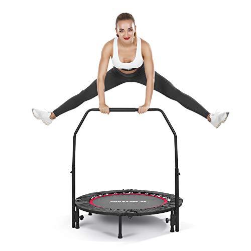 MaxKare 102cm Trampolin Fitness Übung Mini-Trampolin für Kinder Erwachsene Indoor Outdoor   100kg Kapazität   Faltbar mit verstellbarem Griff