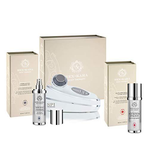 REX KARA Luxus Starter Set: SPI-Beauty System Handgerät und Zubehör für Zuhause