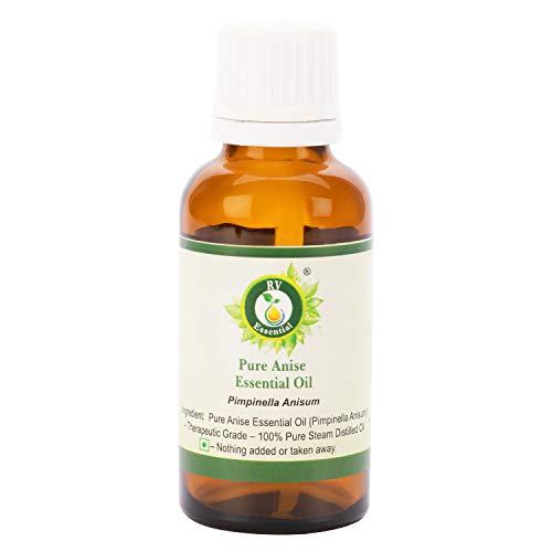 R V Essential Reines Anis Ätherische Öl 10ml (0.338 Unzen) - Pimpinella Anisum (100% reiner und natürlicher Dampf destilliert) Pure Anise Essential Oil