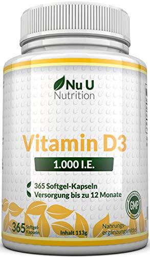Nu U Nutrition Vitamin D3 1000 IU