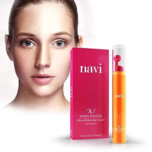 Navi gesichtspflege Ultra-Whitening Vitamin C Serum (30%), gegen Altersflecken und dunkle Augenringe,pigmentflecken entferner,retinol serum,sommersprossen stift,hautaufhellung,(15 ml)