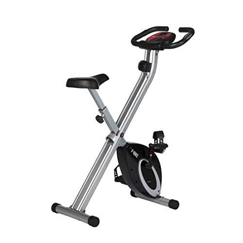 Ultrasport F-Bike, Fahrradtrainer, Heimtrainer, faltbares Fitnessfahrrad mit Trainingscomputer und...