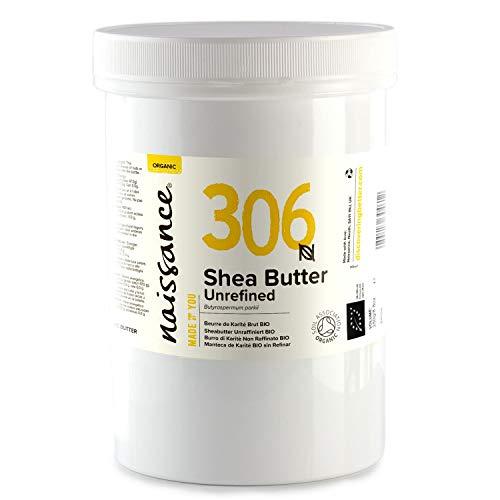 Naissance Sheabutter BIO (Nr. 306) 500g - rein und natürlich, unraffiniert, BIO zertifiziert, handgeknetet, vegan & parfümfrei - ethisch und nachhaltig hergestellt aus Ghana