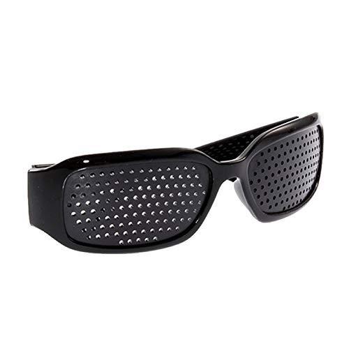 HJRD Rasterbrille,Vision Care Eye Exercise Eyeglasses Brille Sehkraft, Adult Vision Correction Brille, Kids Pinhole Single Nose Brille, mikroporöser Sehkraftschutz/Vorbeugung gegen Astigmatismus