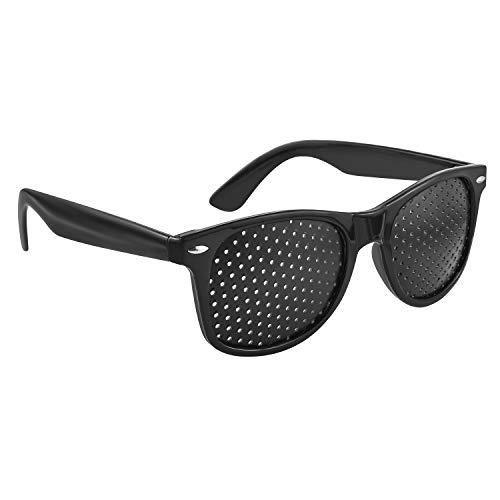 webbomb Augentrainer Lochbrille pinhole glasses Gitterbrille Loch Brille Rasterbrille Augen Entspannung mit faltbaren Bügeln Modell R/B