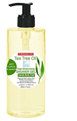 Duschgel – Gel douche 99,4% natürliche Inhaltsstoffe Teebaumöl Duschgel 500ml - Feuchtigkeitsspendende Duschgel Neue erfrischende Formel, vorteilhafter 500 ml Spenderflacon