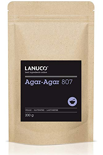 Agar Agar Pulver - 200g Premium Qualität Kochen und Backen, vegane pflanzliche Gelatine, glutenfreie Ernährung, Verdicken