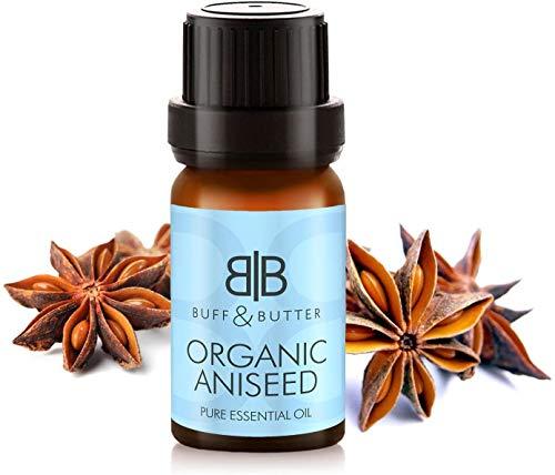 Bio Anis (Pimpinella Anisum) Öl – 100% reines & natürliches ätherisches Anisöl – perfekt für harte Süßigkeiten, Pralinen, Kekse, Kuchen, Eiscreme, Glasur und mehr therapeutische Aromatherapie