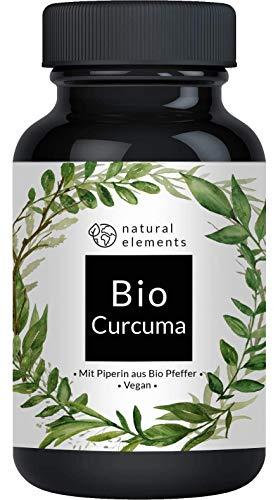 Bio Curcuma - 240 Kapseln - 4542mg (Bio Kurkuma + Bio schwarzer Pfeffer) pro Tagesdosis - Mit...