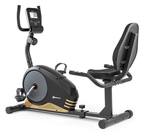 Hop-Sport Root Liegeergometer - Liegeheimtrainer mit Handpulssensoren, 9,5 kg Schwungmasse, 8...