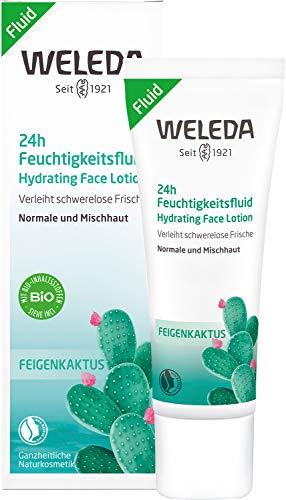 WELEDA Feigenkaktus 24h Feuchtigkeitsfluid, erfrischende Naturkosmetik Gesichtslotion für ein schönes und gesundes Hautbild (1x 30ml)