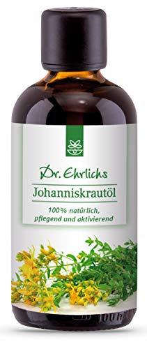 Dr. Ehrlichs Johanniskrautöl - Das Naturheilmittel perfekt zur Hautpflege oder als Einreibung bei Verbrennungen, Wunden und Narben - 100% natürlich, ideal für zarte und sensible Haut als Pflegeöl