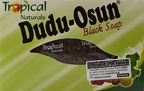 Dudu Osun Afrikanische Schwarze Seife, 150g, natürlich und rein, 6Stück