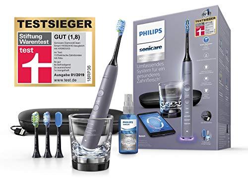 Philips Sonicare DiamondClean Smart Schallzahnbürste HX9924/43 mit 5 Putzprogrammen, 3...
