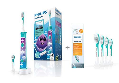 Philips Sonicare For Kids Elektrische Zahnbürste HX6322/04, mit Schalltechnologie, für Kinder,...