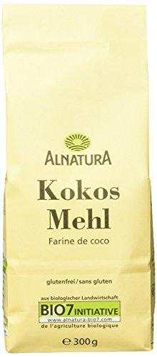 Alnatura Bio Kokosmehl, glutenfrei, 6er Pack (6 x 300 g)