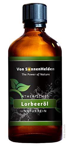 (43,90€/100ml) PREMIUM Ätherisches Lorbeeröl (Lorbeerblattöl) 50 ml • 100% Naturrein. Duftöl und Aromaöl z.B. für Wellness, Entspannung, Raumduft, Öllampe, Diffuser.