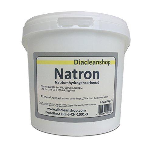 Natron 5 kg Pulver in pharmazeutischer Qualität - Natriumhydrogencarbonat (E500ii)