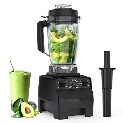 Standmixer Smoothie Maker, homgeek 2000W Arbeitsplatten mixer für Shakes und Smoothies mit 2L BPA-Free Tritanbehälter, Standmixer hochleistung Eingebauter Impuls für Küche, Crushing Ice, Frozen Desser