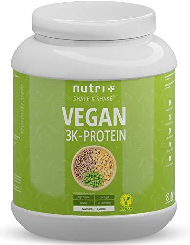 VEGANES EIWEIßPULVER Neutral ohne Süßungsmittel - 85,8% Eiweiß - Nutri-Plus Vegan Pulver 1kg...