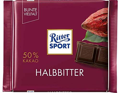 10x 100g Halbbitter Schokolade von Ritter Sport