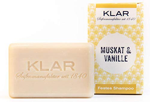 Festes Shampoo von 'Klar Seife'  Muskat & Vanille