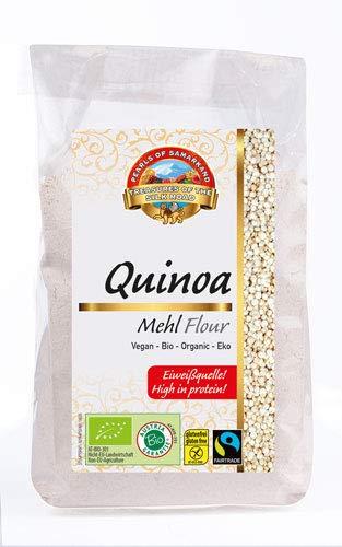 Bio Quinoamehl glutenfrei 1,8 kg Fairtrade gentechnikfrei, Mehl aus rohem Quinoa Royal, aus Bolivien 6x300g