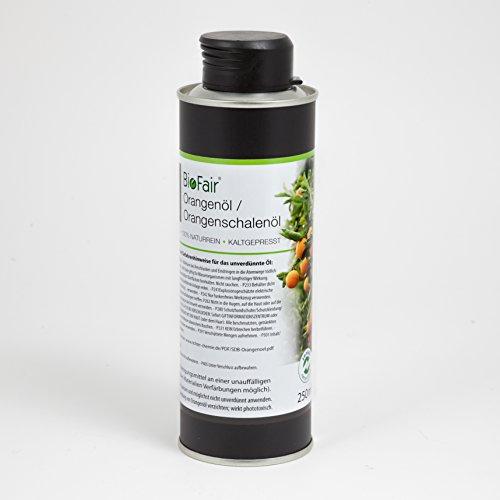 Orangenöl/Orangenschalenöl von BioFair® 100% naturreines, ätherisches Öl, kaltgepresst - 250 ml