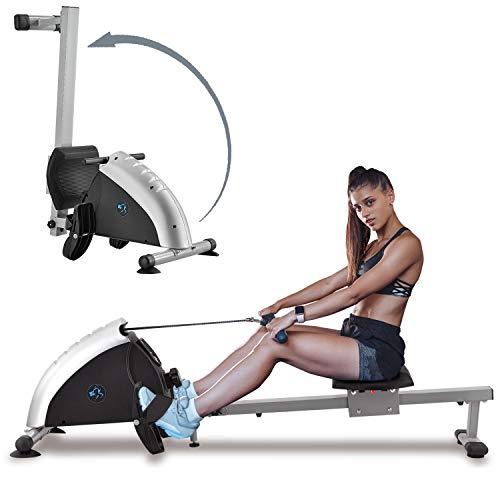 ArtSport Rudergerät Musculara klappbar für zuhause - 8 Schwierigkeitsgrade, Zeit- und...