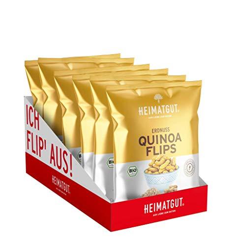 HEIMATGUT Erdnuss-Flips (Unterschiedliche Geschmacksrichtungen) (Erdnuss-Quinoa Flips)
