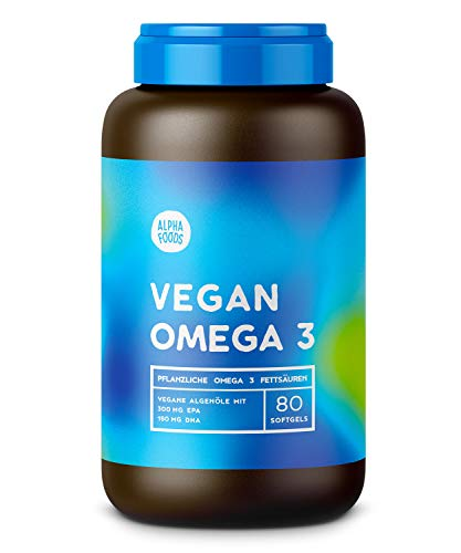 Vegane Omega 3 Kapseln mit richtigem Verhältnis von EPA und DHA