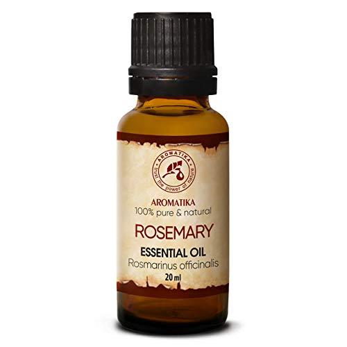 Rosmarin Öl 20ml - 100% Reine & Natürliche Rosmarinöl - Rosmarinus Officinalis - Spanien - für Aromatherapie - Aroma Diffuser - Duftlampe - Anti-Haarausfall - Beauty - Naturkosmetik