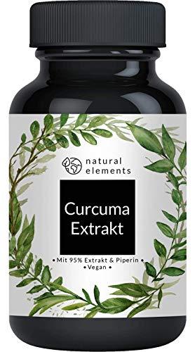 Curcuma Extrakt Kapseln - Vergleichssieger 2020* - Curcumingehalt EINER Kapsel entspricht dem von...