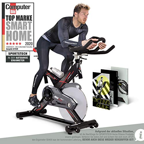 Sportstech Profi Indoor Cycle SX400– Deutsche Qualitätsmarke - mit Video Events & Multiplayer...