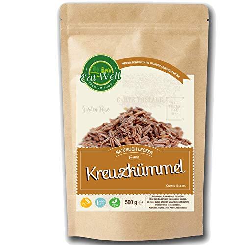 Kreuzkümmel Ganz (500g) • Kumin Gewürz Ganz • Cumin Seeds Kumin Gewürz I Mit starkem Aroma und authentischem Geschmack I Eat Well Premium Foods