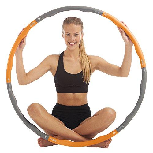 just be... Fitness Hula Hoop Reifen für Erwachsene und Jugendliche. Fitness Hula Hoop mit abnehmbaren Segmenten und unterschiedlichen Gewichten