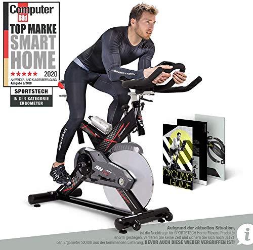Sportstech Profi Indoor Cycle SX400   Deutsches Qualitätsunternehmen   mit Video Events &...