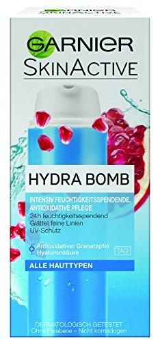 GARNIER SkinActive Hydra Bomb 3 in 1 Tagespflege / Intensive Feuchtigkeitscreme mit Granatapfel & Amla (für feuchtigkeitsbedürftige Haut - dermatologisch getestet - ohne Parabene) 3 x 50ml