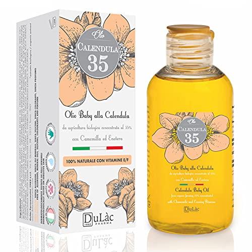 Calendula Öl 100% Natürlich, ideal als Schwangerschaftsöl gegen Dehnungsstreifen oder als Baby-Massage-Öl - Ringelblumenöl mit Calendula Extrakt Bio, Kamille, Vitamin E, Vitamin F