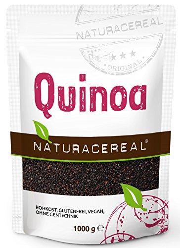 NATURACEREAL Quinoa, schwarz, 1.000g (1x1kg) - glutenfrei, eiweißreich, vielseitig