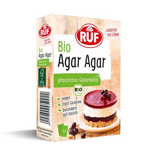 RUF Bio Agar Agar rein pflanzliches Geliermittel statt Gelatine, 7er Pack (7 x 30g)