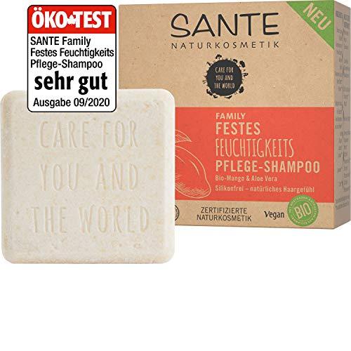 Bio Shampoo Bar von SANTE Naturkosmetik, Feuchtigkeits Festes Shampoo für trockenes Haar, Mit...